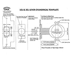 1CL/2CL Cylindrical Lever